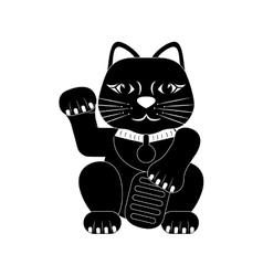 Maneki neko lucky cat vector