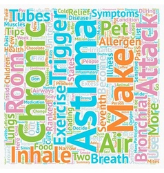 Breathe easy some asthma relief tips text vector