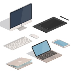 Computer tablet items vector