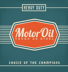 Motor Oil Design vector image