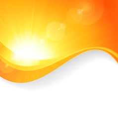 Sun background with wavy pattern vector image