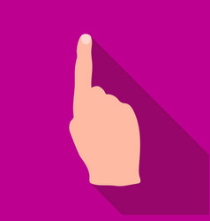 Raised index finger icon in flat style isolated on vector