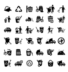 Big garbage icons set vector