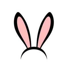 Rabbit ears head accessories vector