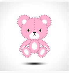 flurry teddy bear vector image
