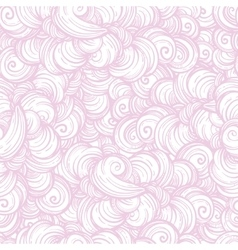 Seamless cloud and smoke pattern vector image