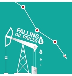 Oil price falling down graph vector
