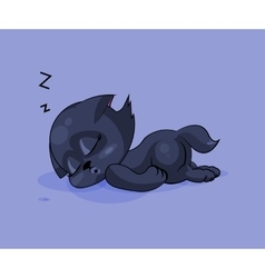 Black cat asleep vector