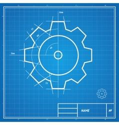 Blueprint gear card vector