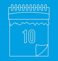 Calendar icon outline style vector