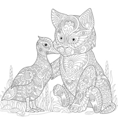 Cat and duck vector