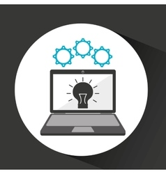 computer security idea social network concept vector image