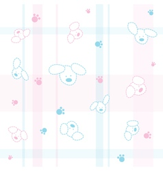 Cute dogs children wallpaper vector