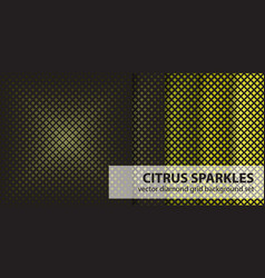 Diamond pattern set citrus sparkles seamless vector