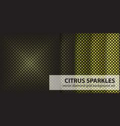 Diamond pattern set citrus sparkles seamless vector