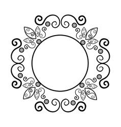 Elegant frame decorative icon vector