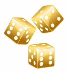 golden dices vector image vector image