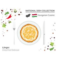 Hungarian cuisine european national dish vector