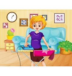 Ironing vector image vector image