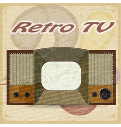 Old television on a vintage backgroundTV vector image vector image