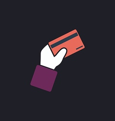 Payment card computer symbol vector