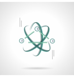 Physics science flat color design icon vector image vector image