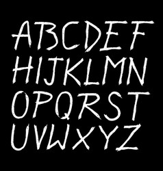 scratched doodle hand drawn letters font vector image vector image