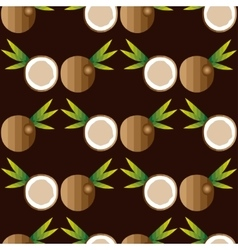 Seamless background with coconuts vector