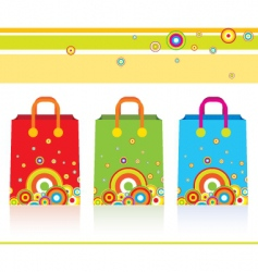 three parer bags vector image vector image