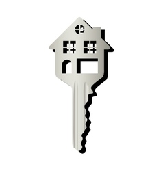 House shaped key icon image vector