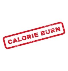 Calorie burn text rubber stamp vector