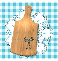 wooden utensil13 vector image
