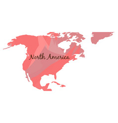 Isolated map of north america vector