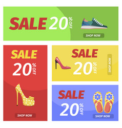 Shopping night with big sale in shoes store poster vector