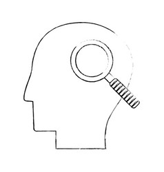 head human search creativity sketch vector image