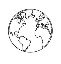 World map earth globes cartography continents vector