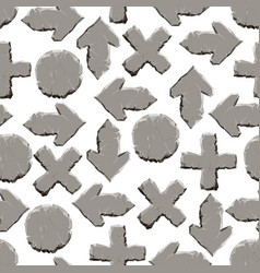 stone signs seamless pattern vector image