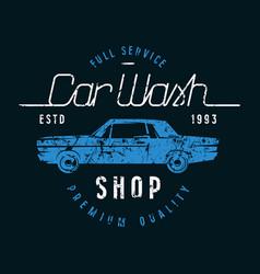 Car wash emblem vector