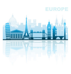 Architectural sights of europe vector