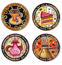 Coffee tea drink coasters vector