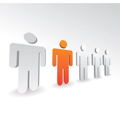 3D persons vector image
