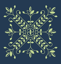 Floral design element for pattern for jewel vector