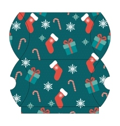 Christmas gift box template vector