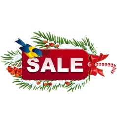 Christmas sale label template vector