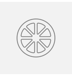 Slice of lemon line icon vector