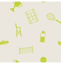 Seamless pattern with tennis icons vector