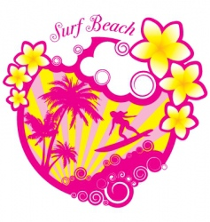 vector surf beach illustration vector image
