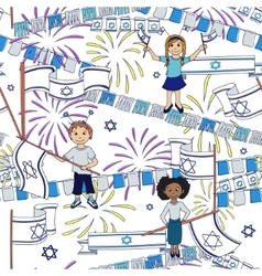 Israel Independence Day background vector image