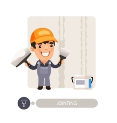 Worker Dub Wall Joints vector image