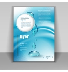 Flyer with drops of pure water vector